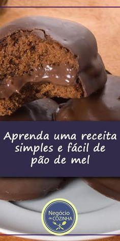 Receita simples de pão de mel para fazer e vender! Aprenda a receita e dicas para começar a fazer e vender. #pãodemel #façaevenda #doces @ganhedinheiro