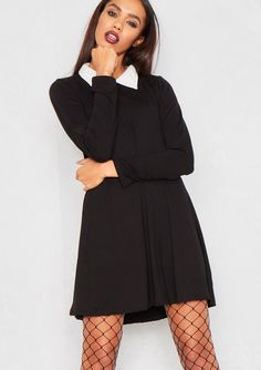Clara Collared Swing Dress