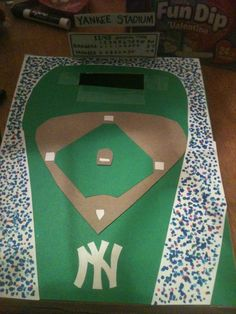 Boys valentine's box- baseball stadium (we would change it to Cubs, of course) Valentines Card Holder, Valentine Day Boxes, Valentines Day Treats, Valentines For Boys, Valentine Crafts, Valentine Party, Valentine Ideas, Valentine Cupid, Saint Valentine