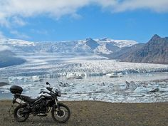 Stare in awe at the largest glacier in Europe. Photo taken on our Iceland Fire and Ice motorcycle adventure. Find out all about it here: https://www.motoquest.com/guided-motorcycle-tour.php?iceland-motorcycle-adventure-39