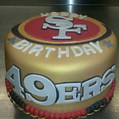 "Darren Rovell's photo ""Legit 49ers Birthday Cake from @Taylor Cakes ..."