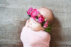 Baby flower crown!!  Sweet Little Peanut Olivia   Sweet Little Peanut