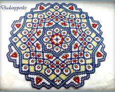 pattern bead weaving doily VIOLETTA