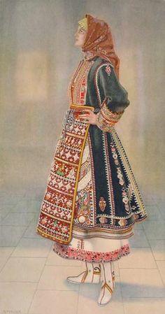 #58a - Peasant Woman's Dress (Thrace, Makra Gefyra)
