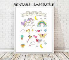 lamina unicornio, laminas animales, laminas niñas, cuadro infantil, cuadro niña, laminas imprimibles, ilustracion infantil,mariposa,arcoiris