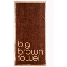 Bloomingdale S Brown Beach Towel 40 Liked On Polyvore