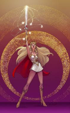 My dream costume: She-Ra, Princess of Power! I've seen a lot of these for sale, but the point of it for me is to make it myself so this one may take me awhile. The bodice will probably end up having to have clear/skin-tone straps, and I already have a red cape. I'm looking forward to the knee-high gold boots!