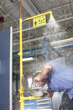 The Combination Drench Shower and Eye/Facewash Unit adds cost effective safety solutions to any facility.