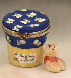 Limoges apricot jam with teddy bear box