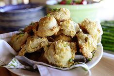 Cheddar Chive Drop Biscuits  http://thepioneerwoman.com/cooking/2014/04/cheddar-chive-drop-biscuits/