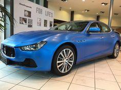 Blauer Maserati Ghibli foliert #Verkauf