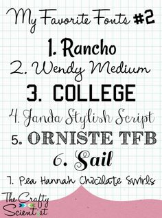 The Crafty Scientist: Fave {Free} Fonts #2