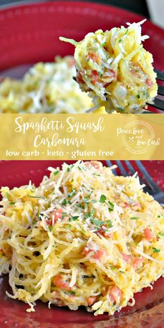 Carbonara has always been one of my favorite pasta dishes. However, I hadn't had it for years before creating this Low Carb Pasta Carbonara Variation Spaghetti Squash Carbonara, Pasta Carbonara, Spaghetti Squash And Meatballs, Low Carb Recipes, Diet Recipes, Vegetarian Recipes, Cooking Recipes, Healthy Recipes, Healthy Snacks