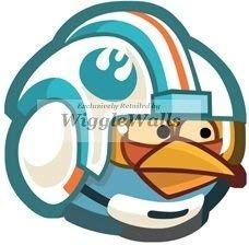 3 Inches Blue Bird Angry Birds Star Wars Removable Peel Self Stick
