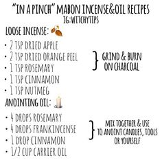 Mabon incense & oil recipes 4 different ways! 🍂🎃 I enjoy burning candles and diffusing oil! Wiccan Witch, Witchcraft, Moon Plant, Dried Orange Peel, Mabon, Sabbats, Recipe For 4, Burning Candle, Oil Diffuser