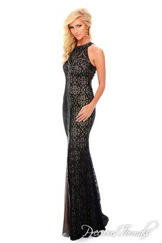 5c41c70e87fec Precious Formals L35089 Black Lace High Neck Evening Gown Prom Dress Unique  Prom Dresses