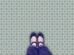 Capucine Vinyl Flooring: Retro Vinyl Floor tile sample.