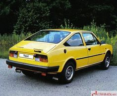 Skoda Rapid 136 Coupe, Rear-engine, rear-wheel-drive layout, same as Porsche Yellow Car, Mellow Yellow, Auto Volkswagen, Automobile, Veteran Car, Rear Wheel Drive, Car Photos, Car Car, Sport Cars