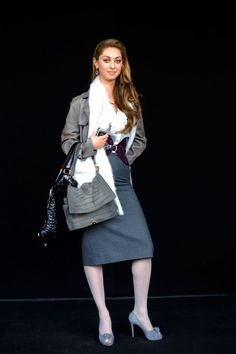 On the Street…In Grey & Purple, Milan « The Sartorialist / Gray leather, Purple belt