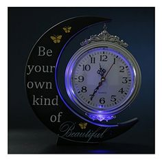 Giftgarden Moon LED Gift Hanging Clock Decor the Greeting...