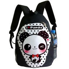 I love panda - Backpack - BP3   ChibiBunny - Bags & Purses on ArtFire