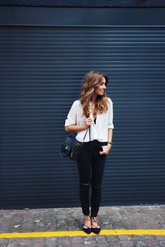 button down shirt with lace up shoes
