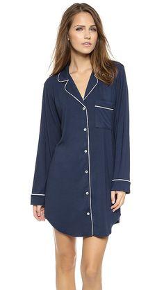 Eberjey Gisele Sleep Shirt, size S Pyjama Sexy, Pyjama Satin, Lingerie Sleepwear, Nightwear, Sleep Shirt, Passion For Fashion, Lounge Wear, Cute Outfits, Casual Outfits