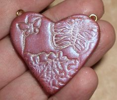 Country Heart Pendant by LoisCraftyCorner on Etsy, $12.00