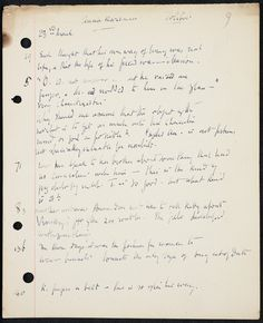 """Virginia Woolf's reading notes to Tolstoy's Anna Karenina. She would later turn these notes into the essay """"How Should One Read A Book?"""", in which Anna Karenina is compared to Richardson's Clarissa. 1926. (Smith College Archives)"""