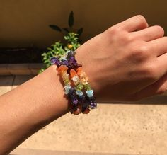 This listing is for (one) Chakra Healing Bracelet. Crystals are often used in context with energetic types of healing. The stones interact with our energetic body by reacting to the electricity that w