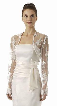 3813048a7f8 CLEARANCE - Black Lace Bolero Jacket Long Sleeve Embroidery (Size Medium). Wedding  JacketWedding BoleroBridal ...