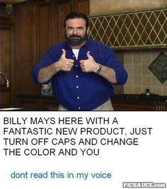 RIP Billy Mays.   :(