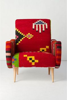 furniture upholstered in Mexican blanket http://www.flickr.com/photos/webmiss-holdenk/5455741987/in/photostream