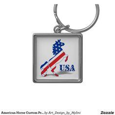 American Horse Custom Premium Square Keychain