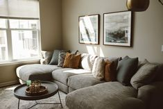 Living Room Update, Condo Living Room, Living Room Grey, Small Living Rooms, Apartment Living, Living Room Designs, Living Room Decor, Small Living Room Sectional, Gray Sectional