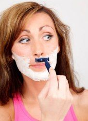 Home Remedies For Facial Hair Removal - I pray I never have to resort to this pic! This pg has done interesting home remedies.