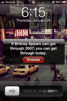 I about died laughing when I saw this. Maybe that makes this the best alarm clock message ever!