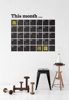 FERM  LIVING -  Wallstickers Calendar