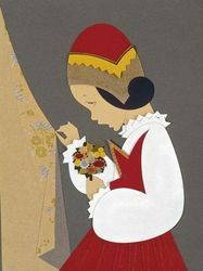 Coroneo, l'opera di due sorelle artiste-artigiane Snow Queen, Sardinia, Red Riding Hood, Little Red, Textile Design, Red Roses, Art For Kids, Fairy Tales, Due Sorelle