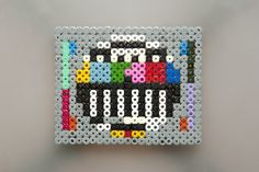 Mire en nouilles Hama Beads Design, Diy Perler Beads, Motifs Perler, Perler Patterns, Hamma Beads Ideas, Pearl Beads Pattern, Art Perle, Iron Beads, Perler Bead Art