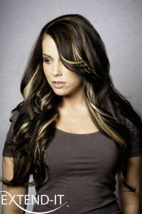 get highlights without the damage with Extend-it Highlights Hair Extensions, Highlights, Long Hair Styles, Beauty, Weave Hair Extensions, Extensions Hair, Long Hairstyle, Luminizer, Long Haircuts