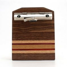 Mini Walnut Striped Clipboard-3x4