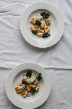 Sweet potato gnocchi with almond sauce :: readeat.pl