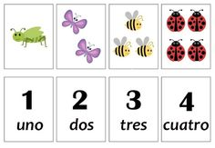 Los números Spanish Lessons, Numbers, Playing Cards, School, Butterflies, Google Drive, Grande, Early Education, Games