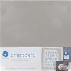 "Create your own shapes and add dimension and rigidity to a variety of projects with Silhouette Chipboard Pack.    	Dimensions:    	  		Length: 12""  	  		Width: 12""      	There are 25 chipboard sheets in each package."