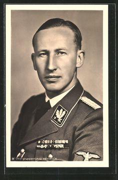 old postcard: AK SS-Obergruppenführer Reinhard Heydrich in Uniform
