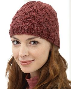 This Soft Cable Knit Hat is perfect for the upcoming winter months.  The pattern is offered free from FaveCrafts.