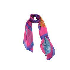 Lenço Folha Purpura #lenços #lenço #scarf #scarfs