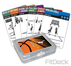 FitDeck Basketball by FitDeck. $14.95. FitDeck Basketball is a new title in our growing line of FitDeck Sports Products. FitDeck Basketball is designed to dramatically improve basketball skills and confidence. This 56-card deck includes categories such as: Inside Moves, Triple Threat, Off-the-Dribble, Shooting, Ball Skills and Competition Cards.  FitDeck Basketball cards can be used alone, with a partner, or with a team. Use this ever-changing workout to take your bas...