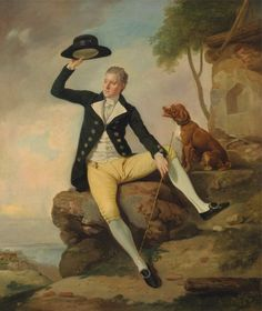 Patrick Heatly, East India Administrator, [with faithful hound], (1783 and 1787),by Johan Joseph Zoffany, 1733-1810, German, active in Britain (from 1760), Yale Center for British Art, Paul Mellon Collection: